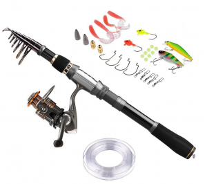 starter rod reel and lure combo
