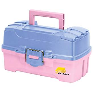 dual top access tackle box blue pink