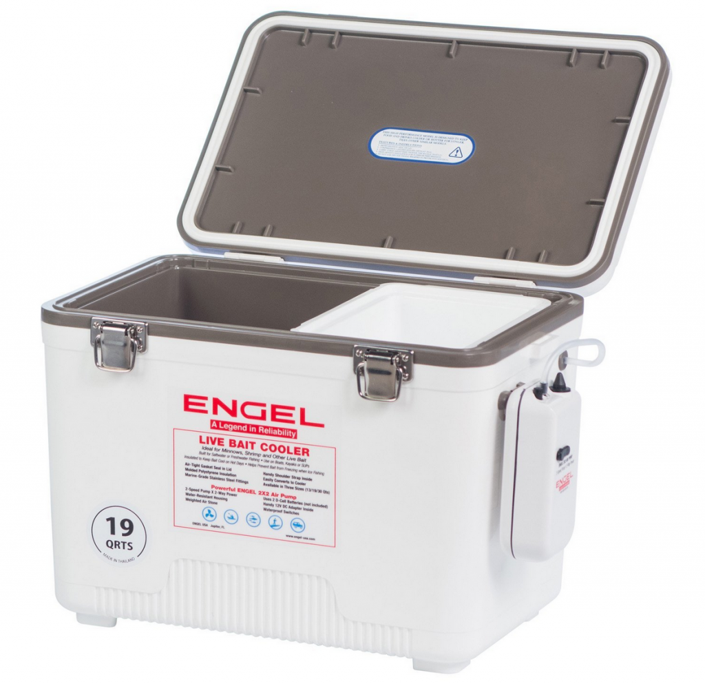 engel 19 quart cooler dry box with air pump