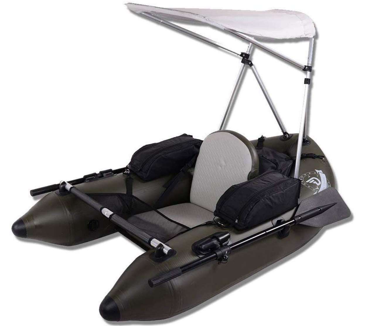 dama fishing raft with canopy